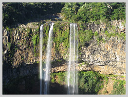 The Tamarind waterfalls, nearly 300 metres high